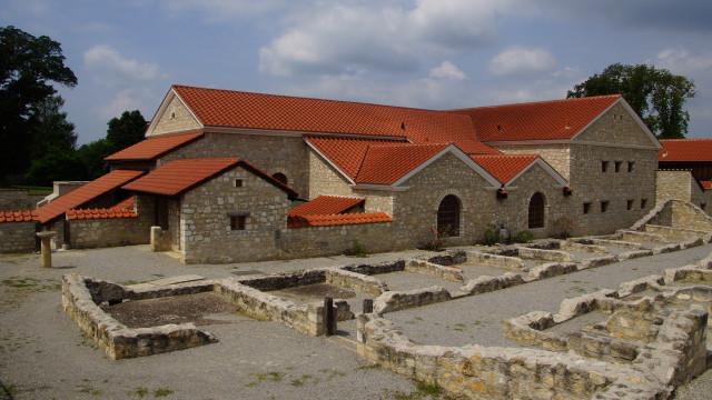 zrekonstruovaná římská osada